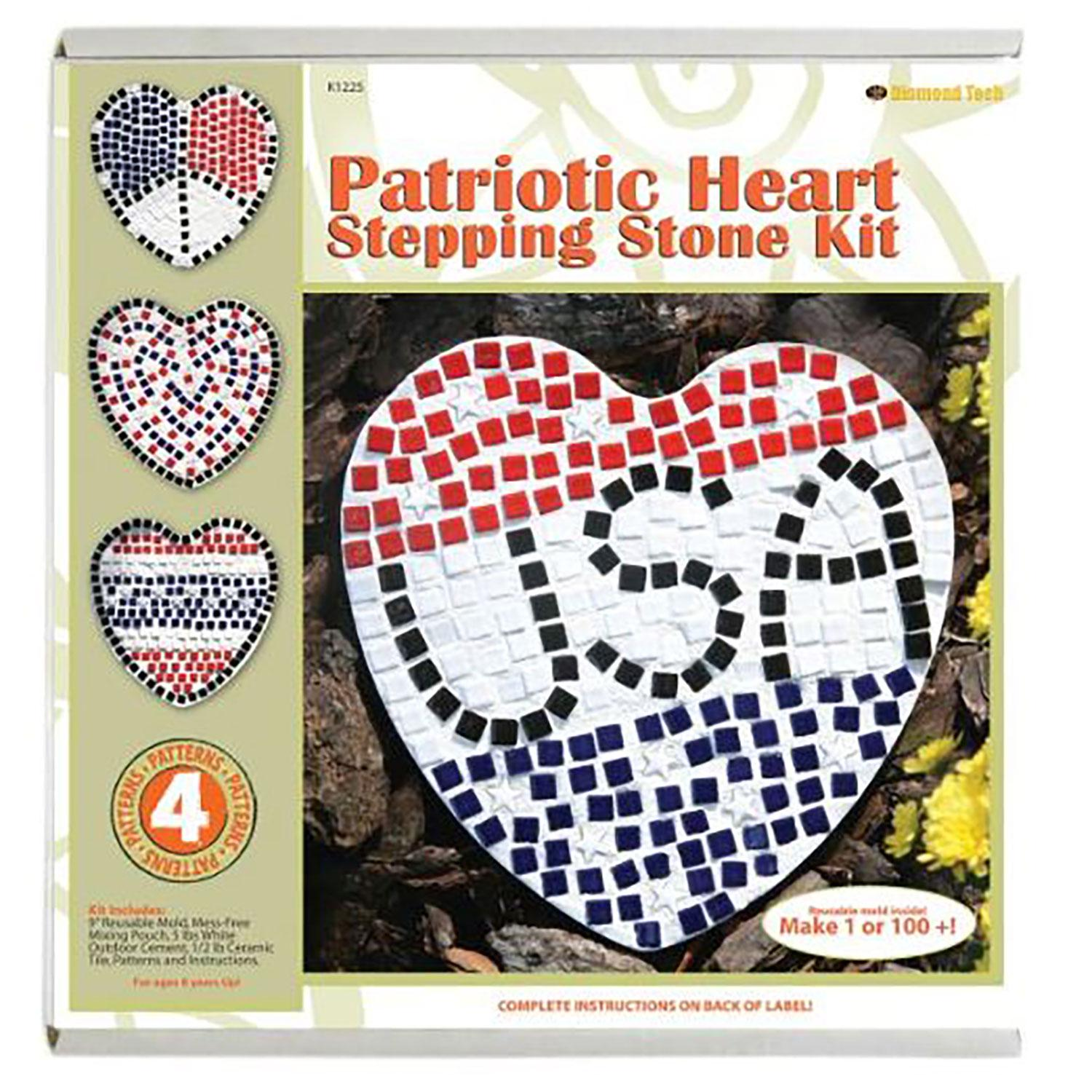 Patriotic Heart Stepping Stone Kit