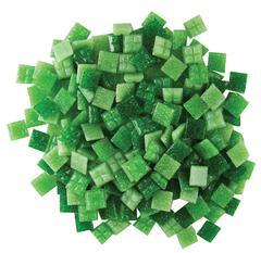 3/8 Grassy Greens Venetian Glass Tile Mix - 1 Lb