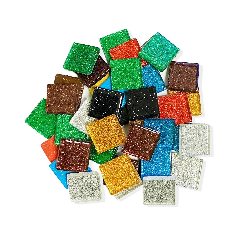 3/4 Sparkle Venetian Glass Tile Mix - 1 Lb