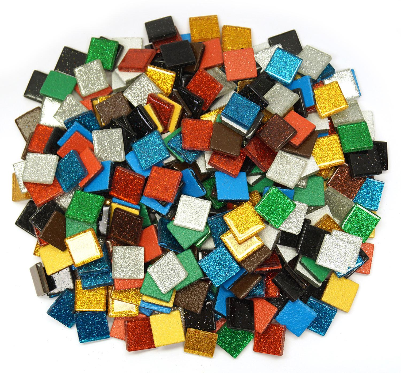 3/4 Sparkle Venetian Glass Tile Mix - 3 Lb