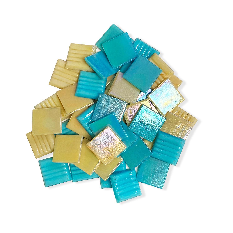 3/4 Vintage Chic Iridized Venetian Glass Tile Mix – 1 Lb