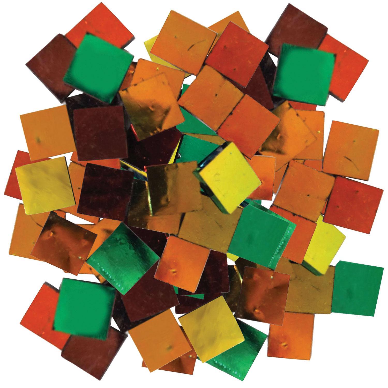 Fuseworks Black Dichroic 1/2 Squares 96 Piece Assortment - 90 COE