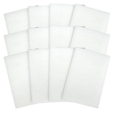 Fuseworks White Opalescent 12 Piece Glass Pack - 90 COE