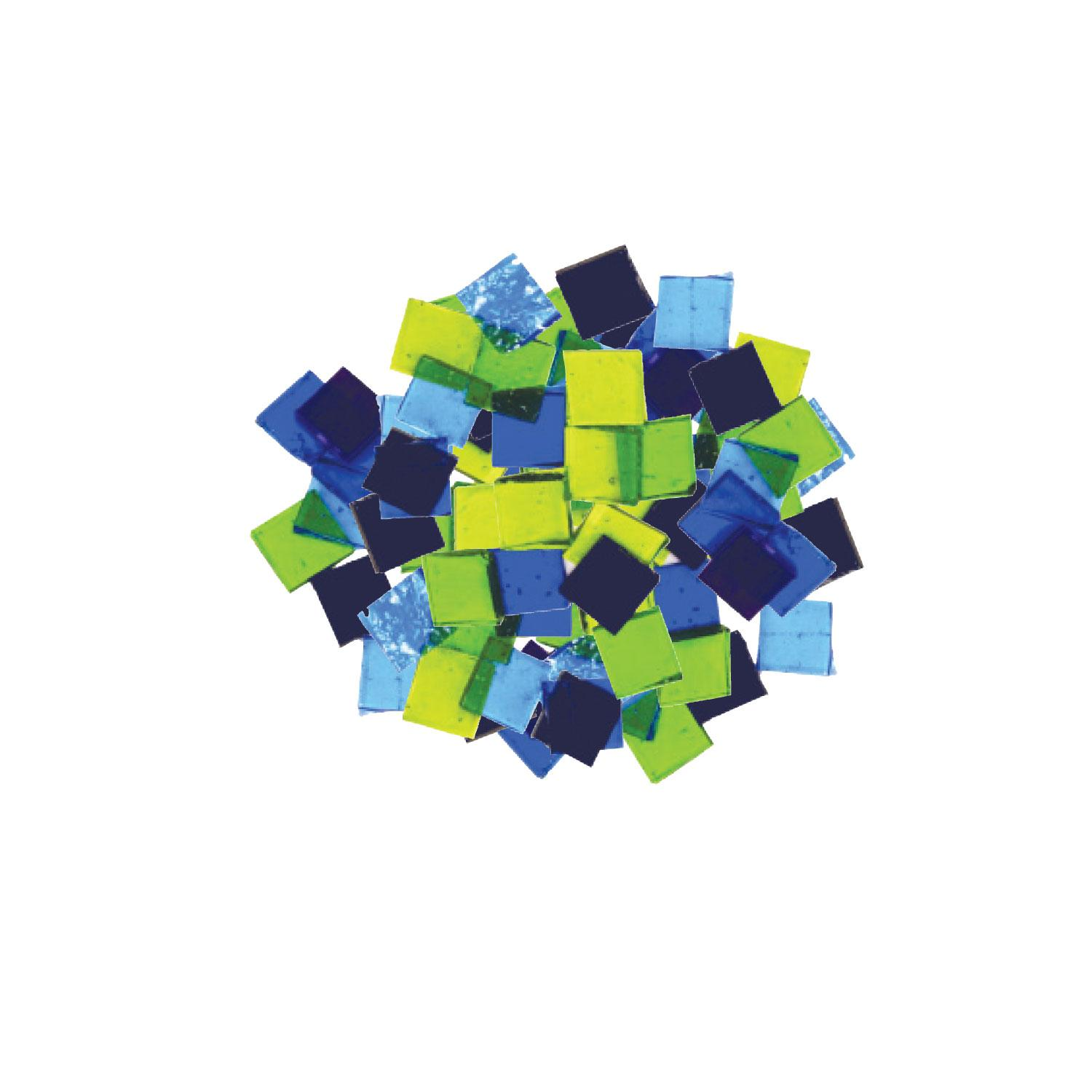 Fuseworks Cool Colors 1/2 Squares 96 Piece Assortment - 90 COE