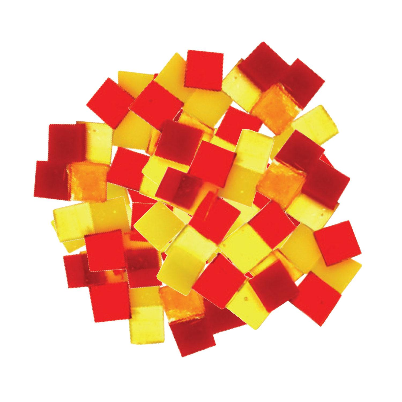 Fuseworks Warm Colors 1/2 Squares 96 Piece Assortment - 90 COE