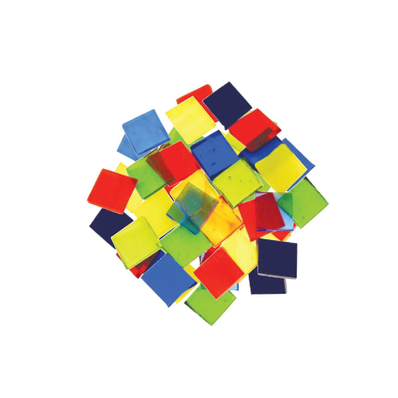 Fuseworks Transparent 1/2 Squares 48 Piece Assortment - 90 COE
