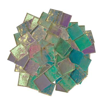 Fuseworks Clear Dichroic 1/2 Squares 96 Piece Assortment - 90 COE