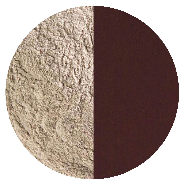 5 Oz Dark Rose Brown Transparent Powder Frit - 90 COE