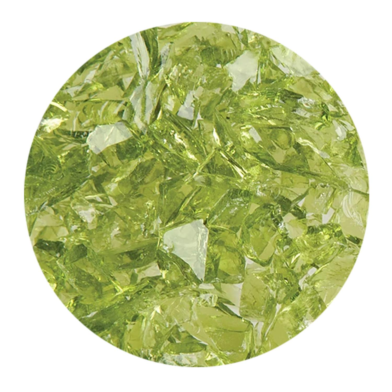 8.5 Oz Lime Green Transparent Coarse Frit - 96 COE