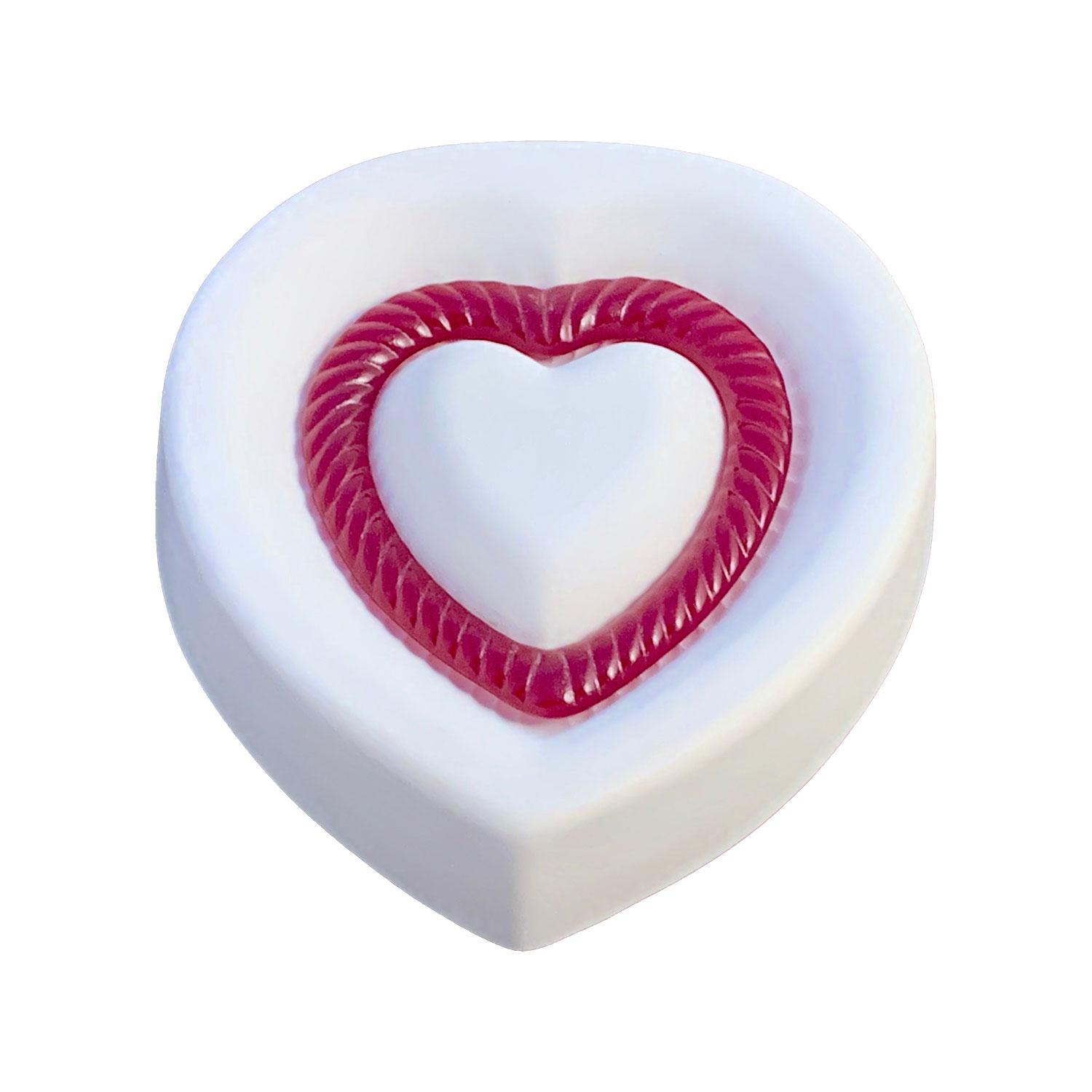 Fluted Heart Casting Mold