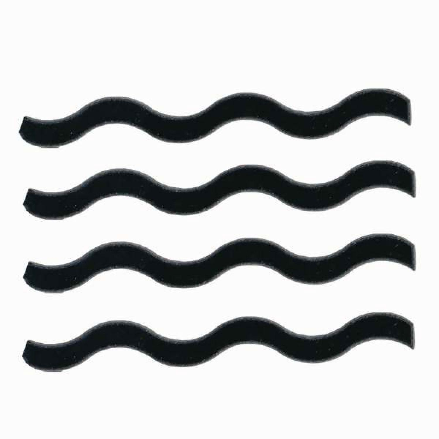 Black Squiggles Fusible Pre-Cut 4 Pack - 96 COE
