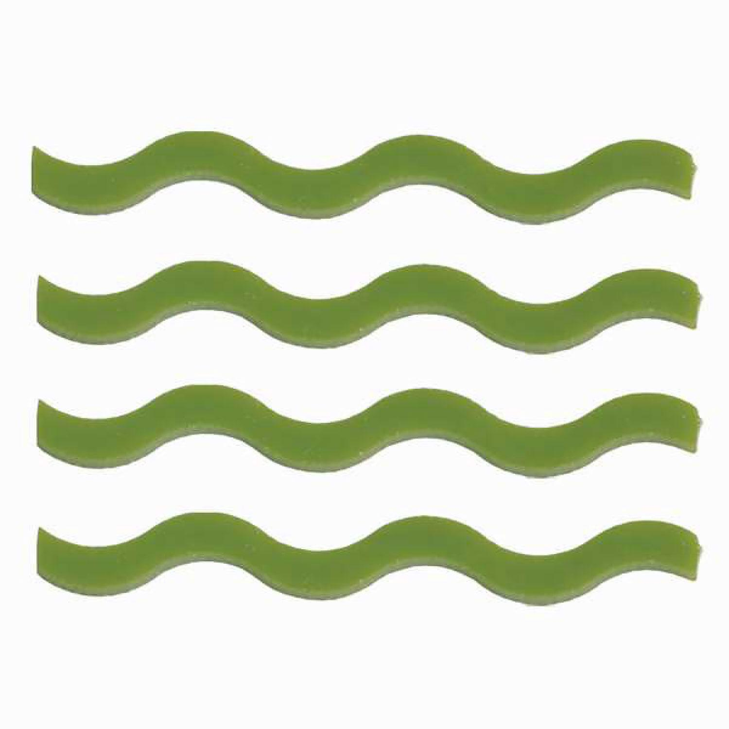 Green Squiggles Fusible Pre-Cut 4 Pack - 96 COE
