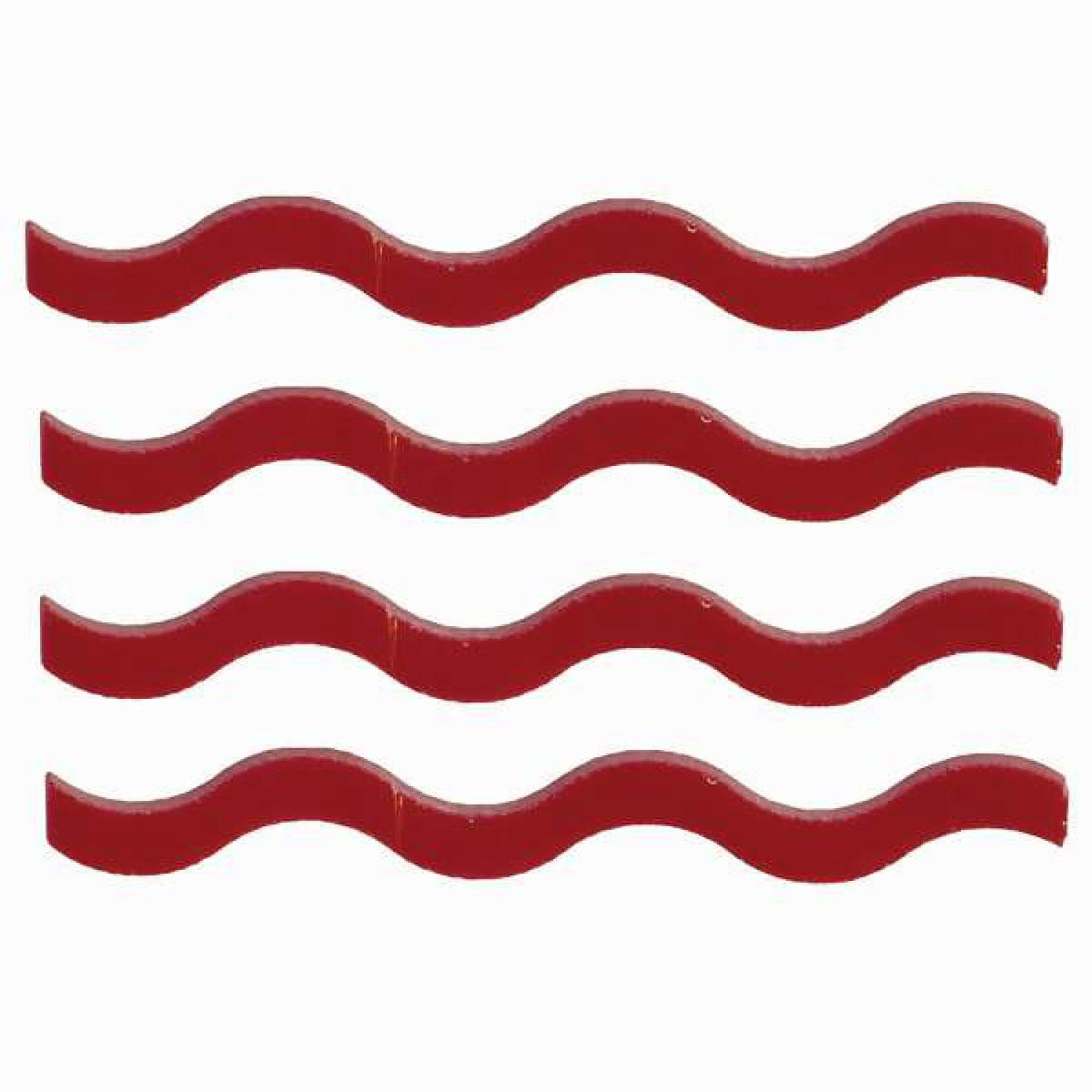 Red Squiggles Fusible Pre-Cut 4 Pack - 96 COE