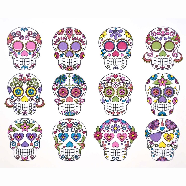 Sugar Skull Color Enamel Decals