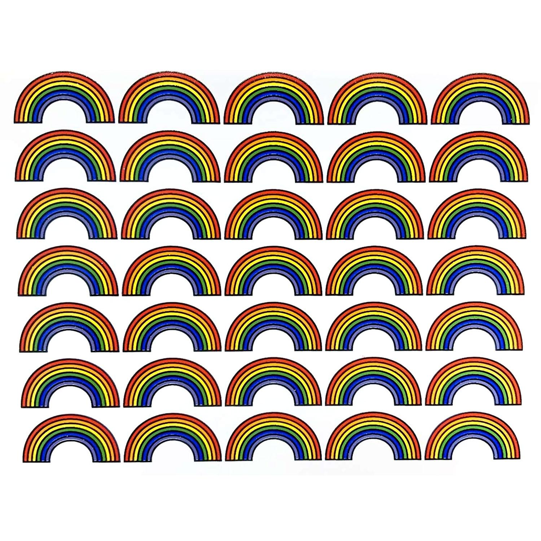 Rainbows Enamel Decals