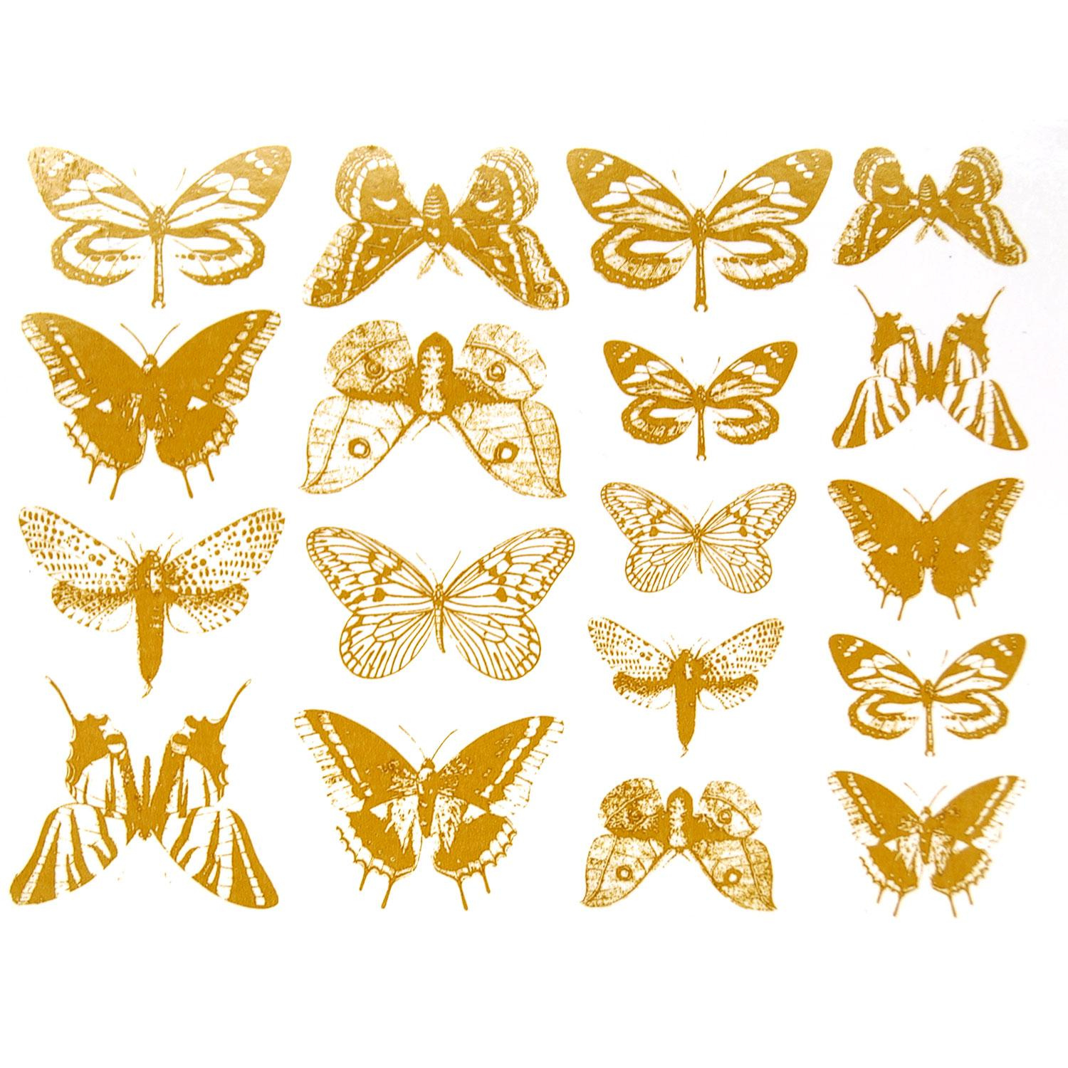 Gold Butterfly Decals