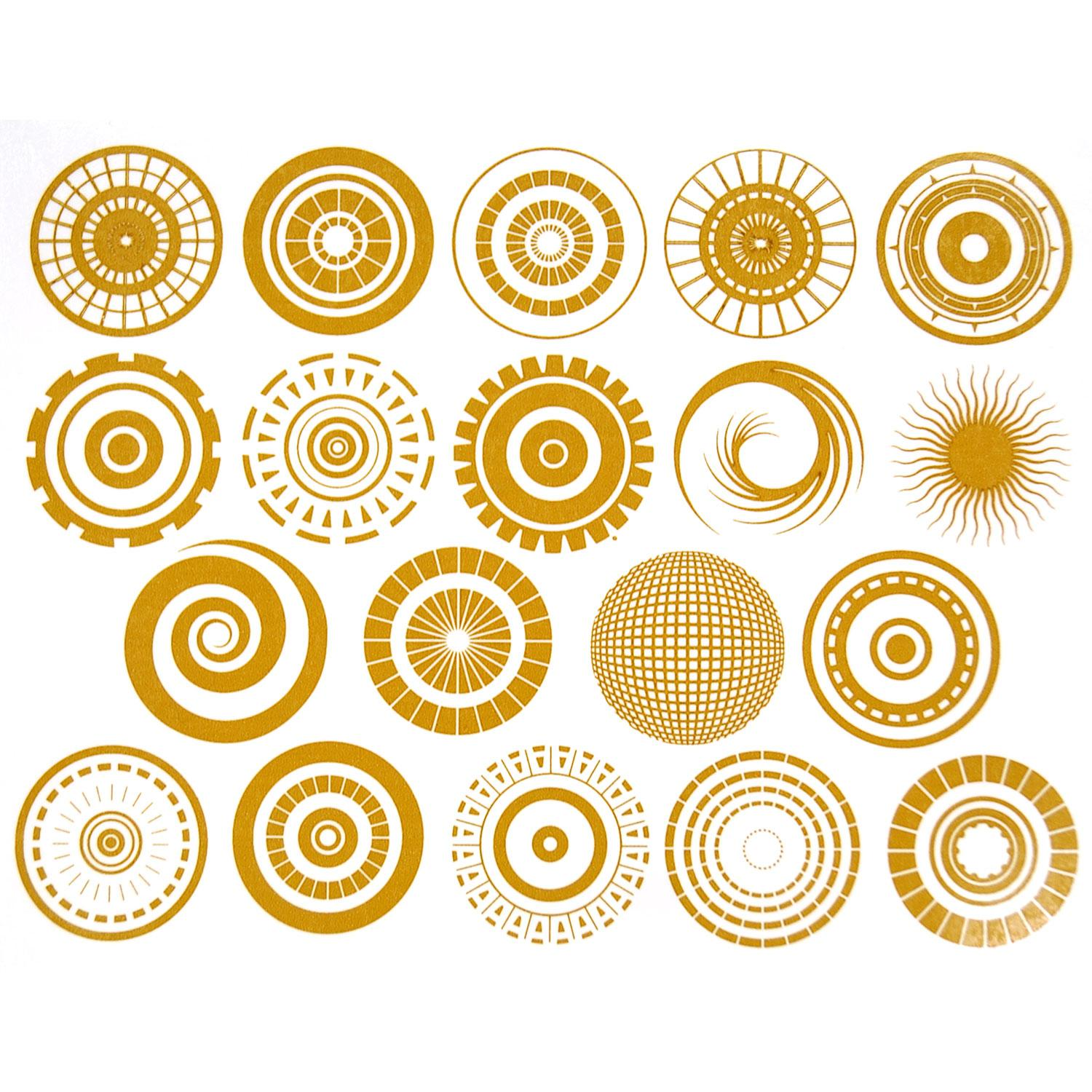 Gold Circle Pattern Decals