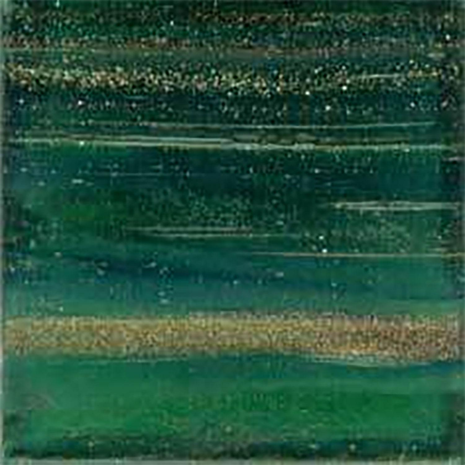 3/8 Emerald Metallic Venetian Glass Tiles - 1 Lb