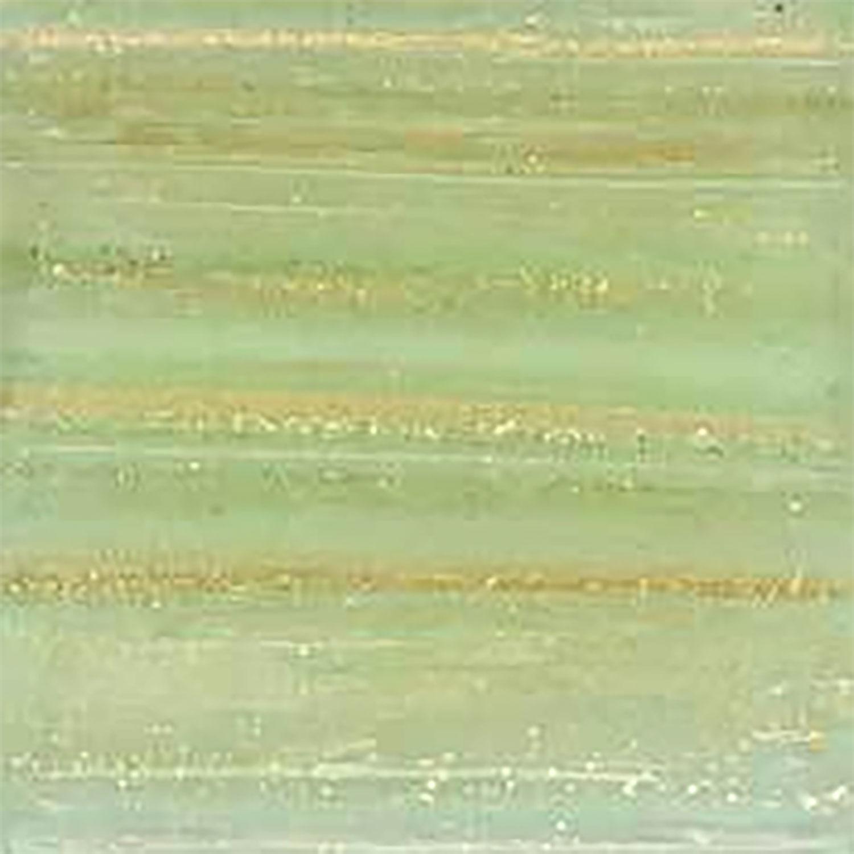 3/8 Shamrock Metallic Venetian Glass Tiles - 1 Lb