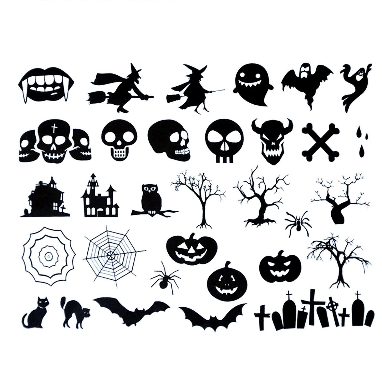 Halloween Black Enamel Decal Assortment