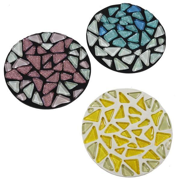 Free Celestial Mosaic Cobblestones Coasters Project Guide