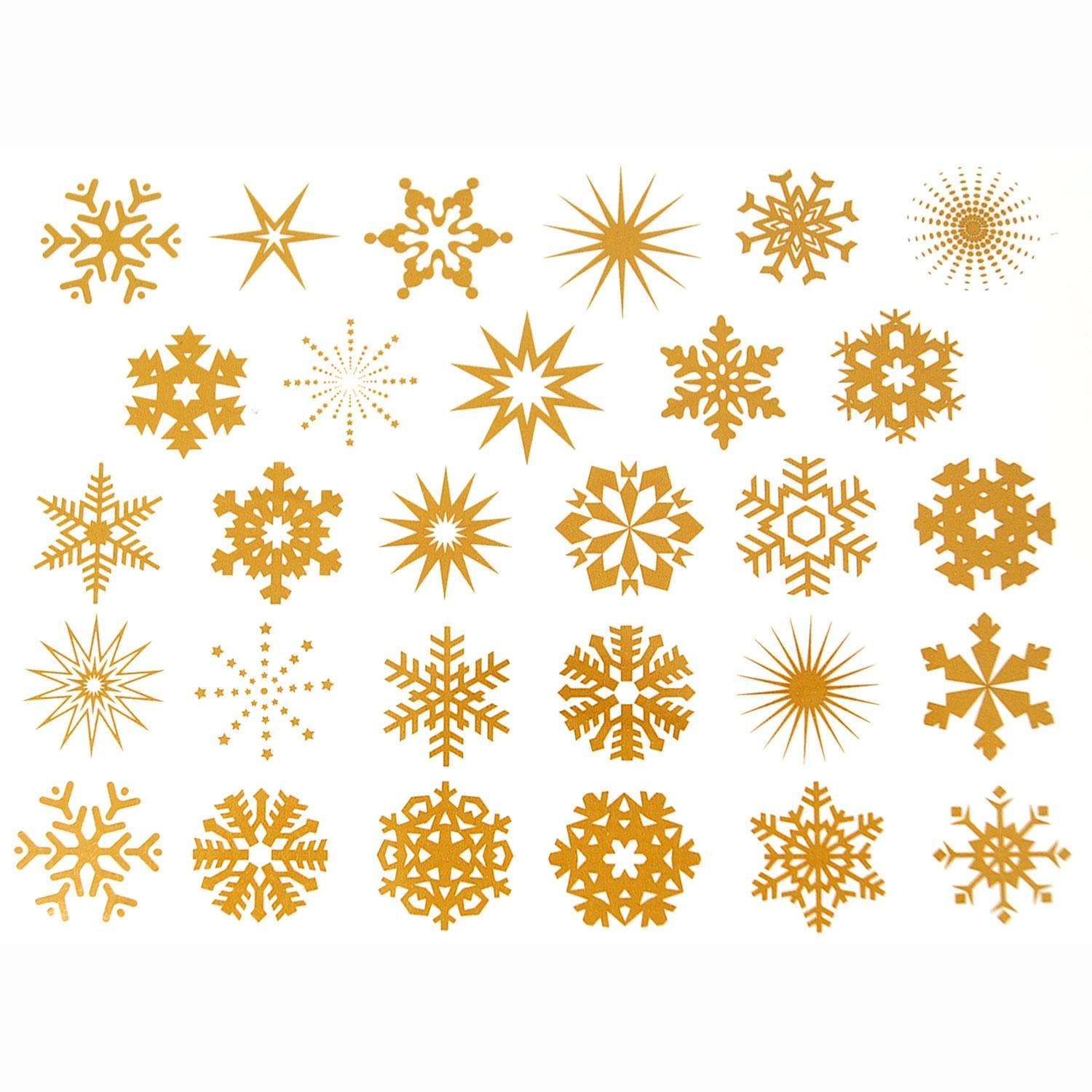 Small Gold Snowflake Decals