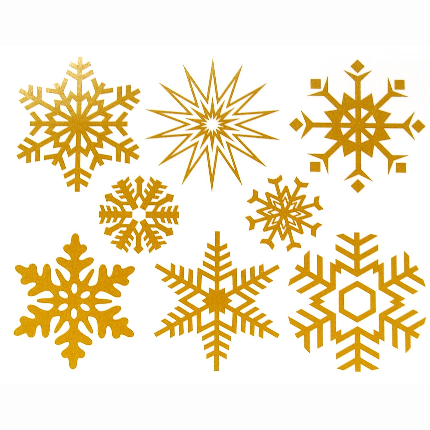 Large Gold Snowflake Decals