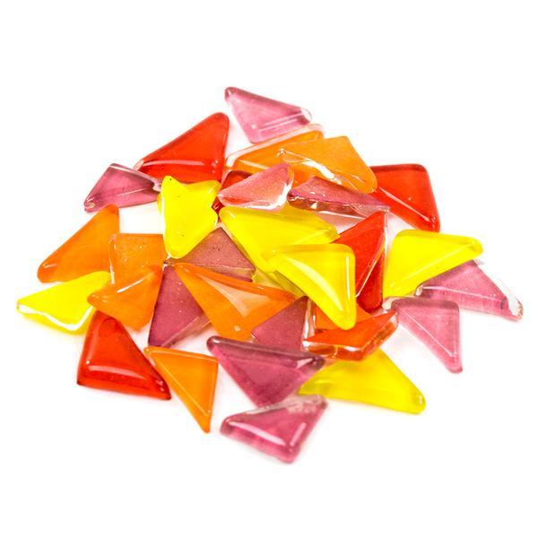Cobblestone Flames Glass Gems - 1/2 Lb