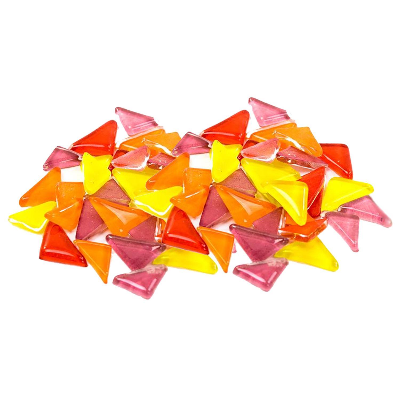 Cobblestone Flames Glass Gems - 1 Lb
