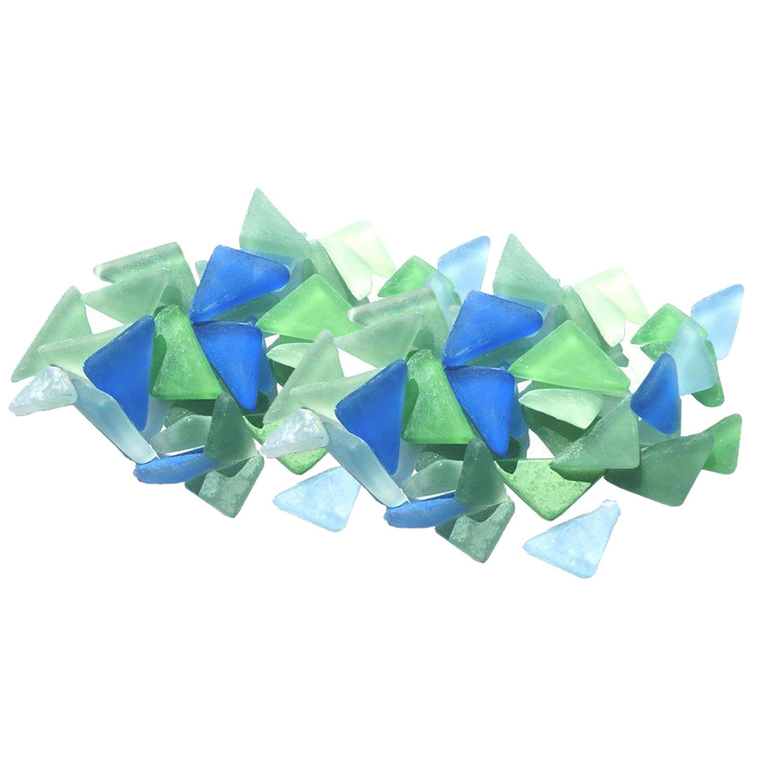 Cobblestone Frosted Bay Glass Gems - 1 Lb