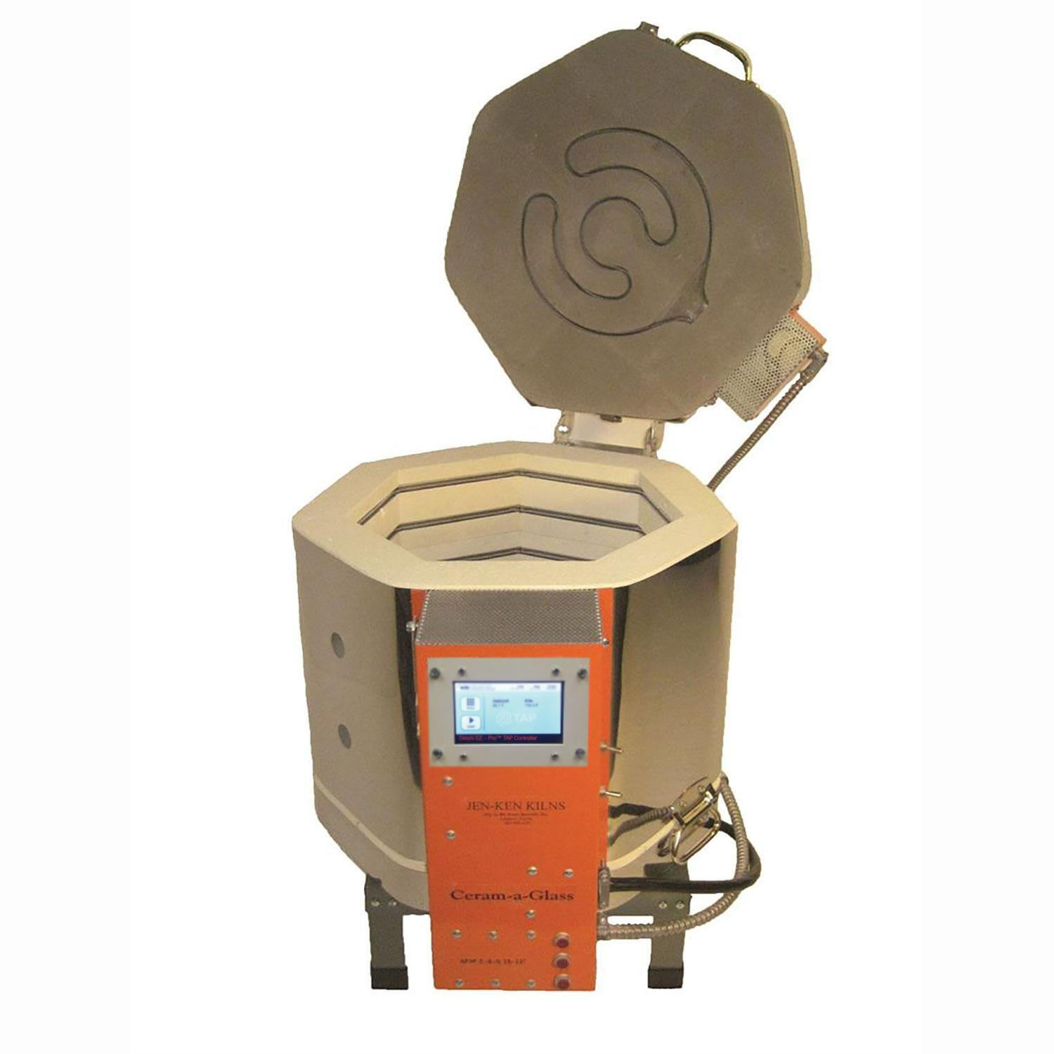 Jen-Ken Ceram-a-Glass 1513 Kiln With TAP Controller and 3 Brick