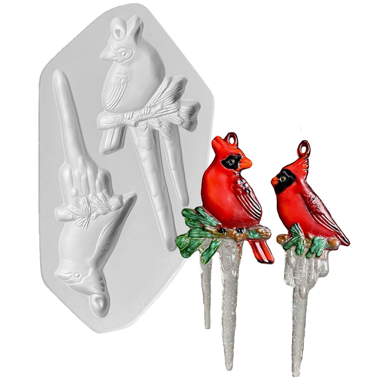 Cardinal Icicle Ornament Casting Mold