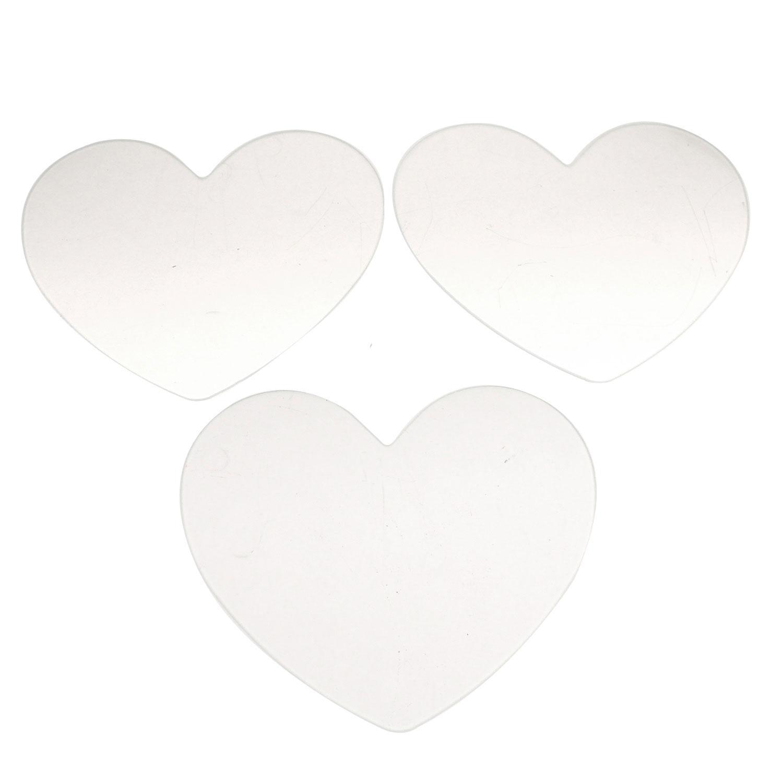 Oceanside Clear 8 x 6-13/16 Pre-Cut Medium Heart 3 Pack - 96 COE