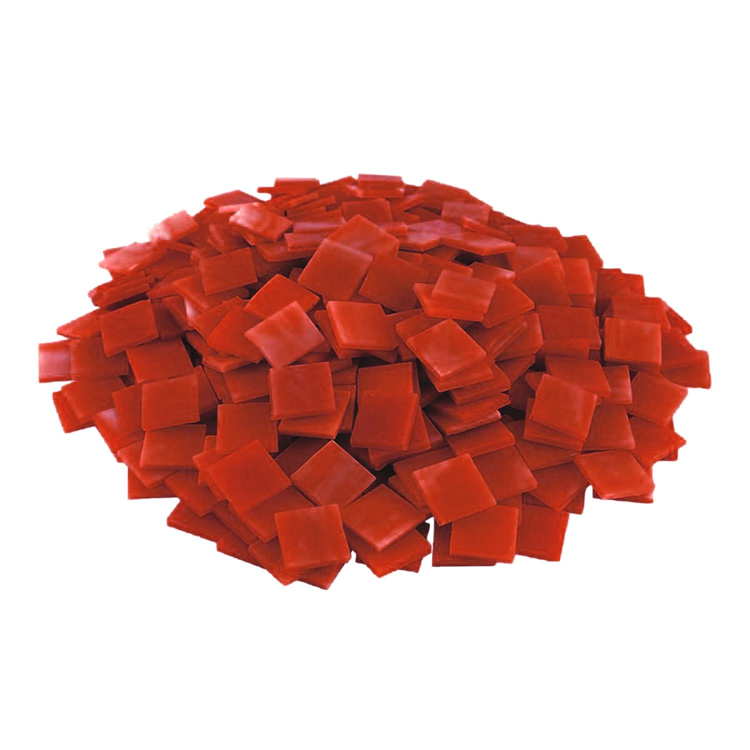 3/4 Orange Transparent Stained Glass Chips - 480 Pieces