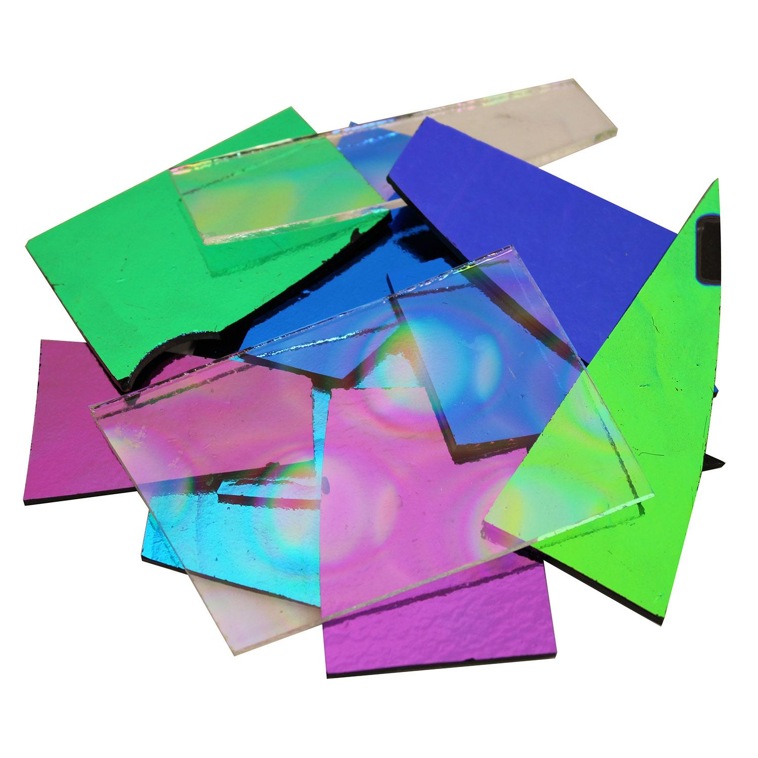 1/4 Lb Vee's Variety Limited Edition Dichroic Scrap - 96 COE