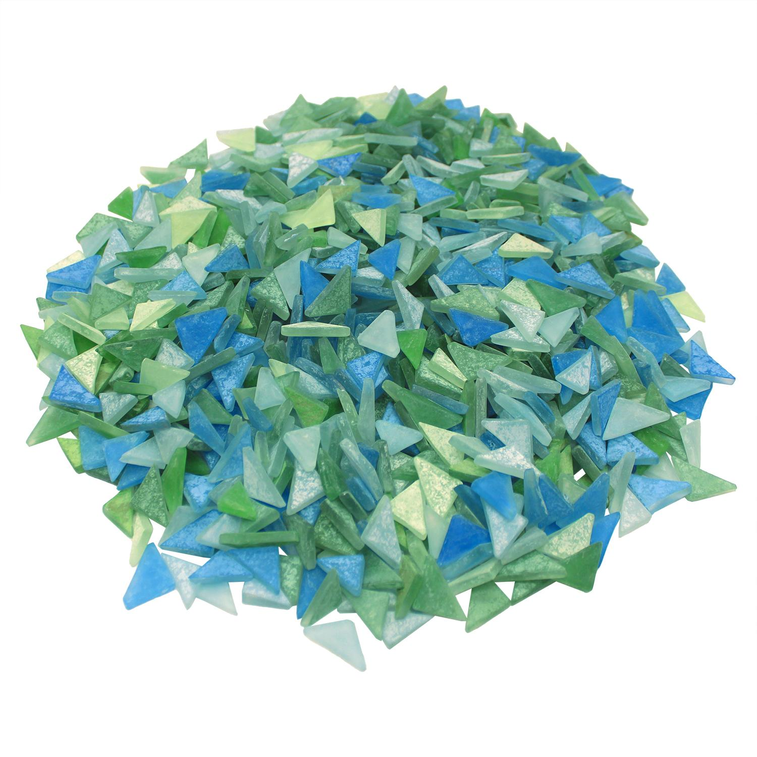 Cobblestone Frosted Bay Glass Gems - 3 Lb