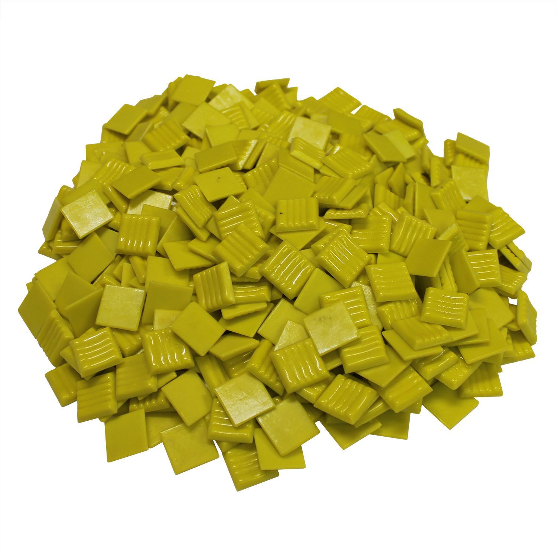 3/4 Canary Venetian Glass Tile - 3 Lb