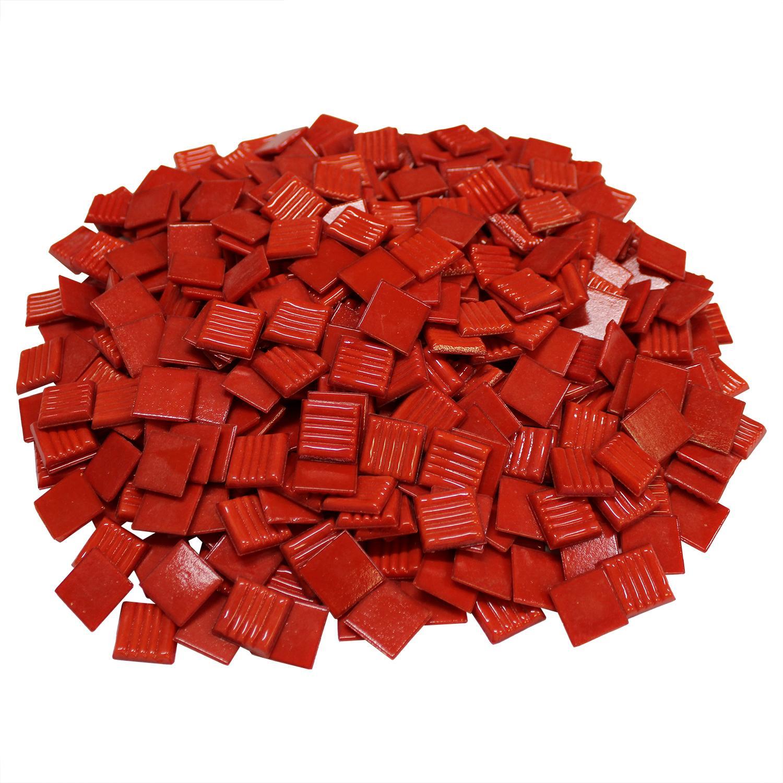 3/4 Tomato Venetian Glass Tile - 3 Lb
