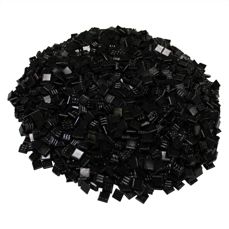 3/8 Black Venetian Glass Tile - 3 Lb