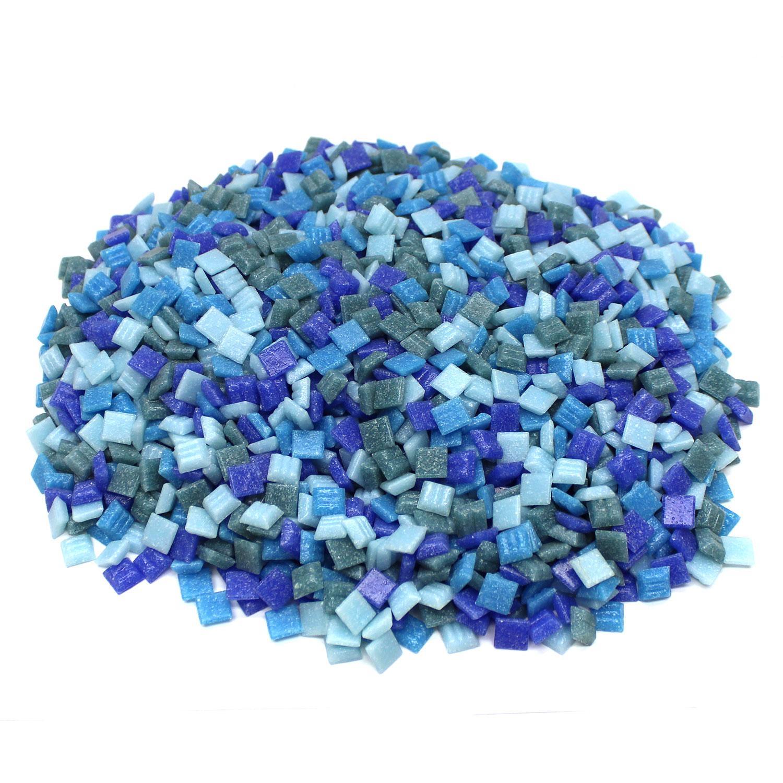 3/8 Seascape Venetian Glass Tile Mix - 3 Lb