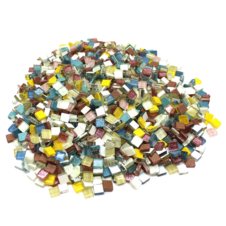 3/8 Square Cobblestone Lights Glass Gems - 3 Lb