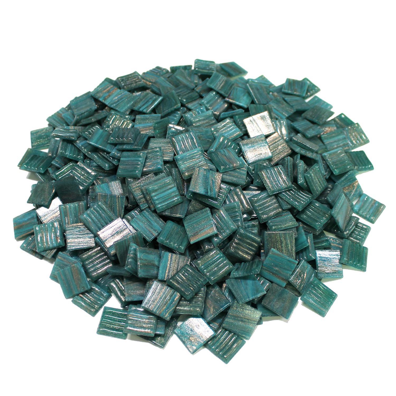 3/4 Meadow Gold Metallic Venetian Glass Tiles - 3 Lb