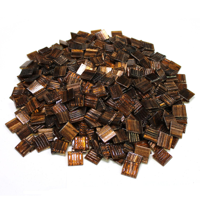 3/4 Hot Molten Metallic Venetian Glass Tiles - 3 Lb