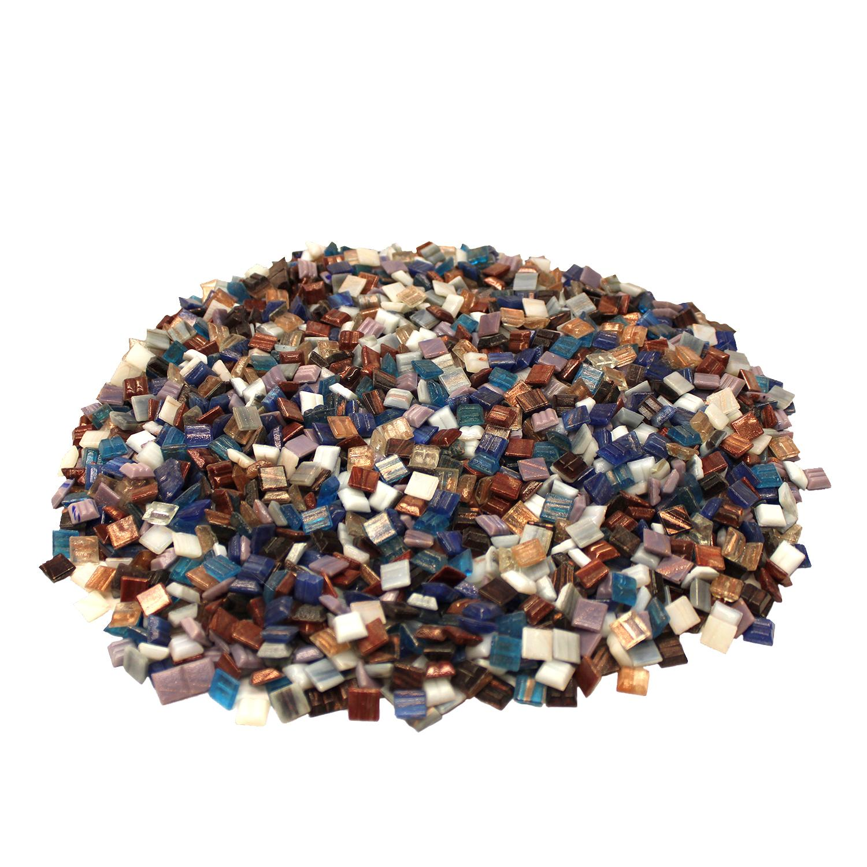 3/8 Gold Streaky Venetian Glass Tile Mix - 3 Lb