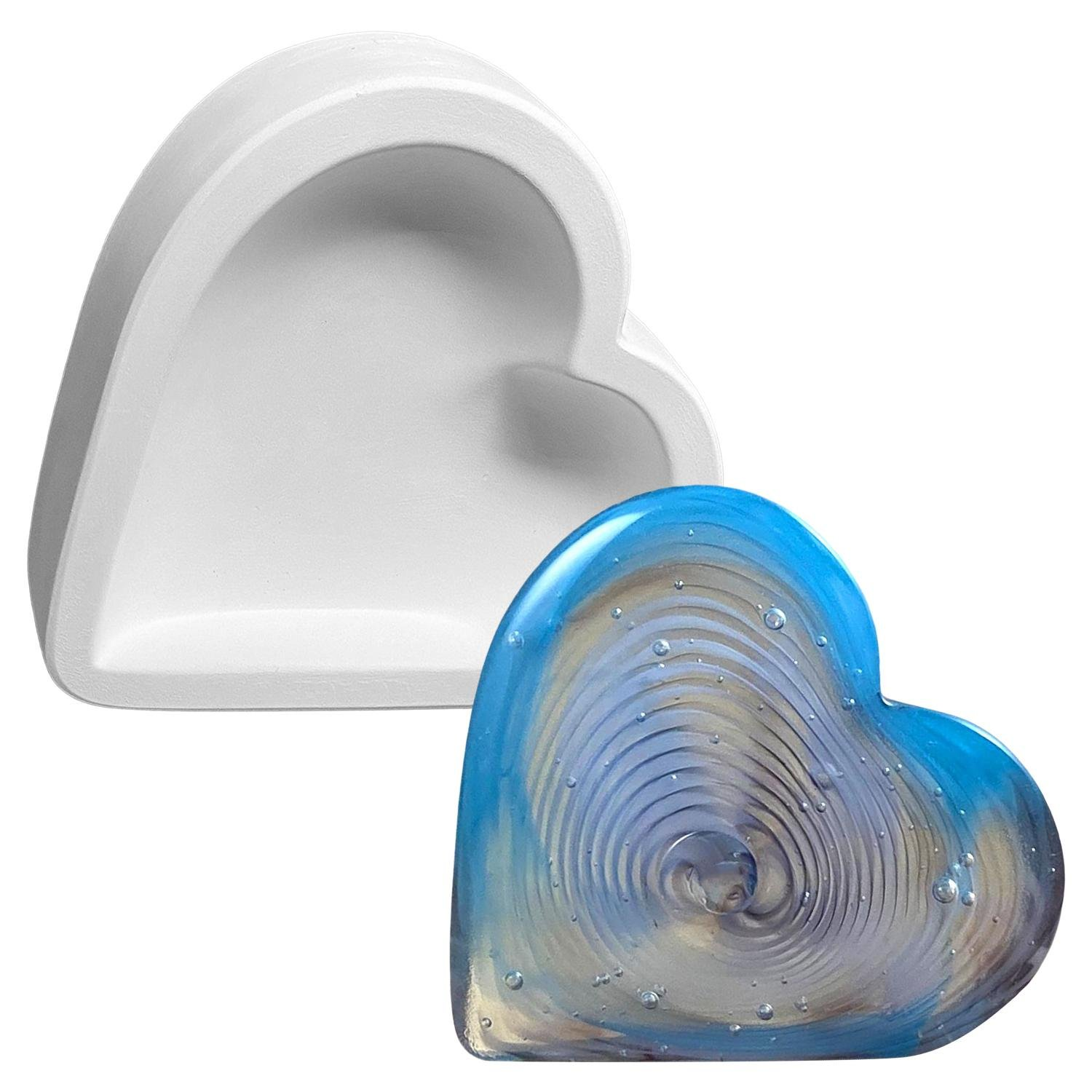Heart Vertical Paperweight Casting Mold