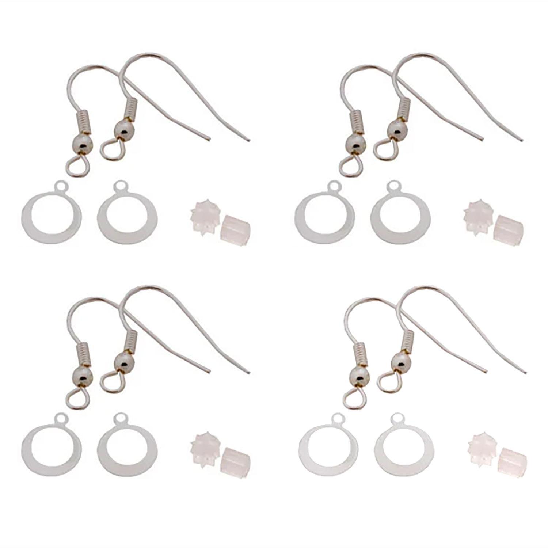 Silver Earring Hook Sets – 4 Pair Pack