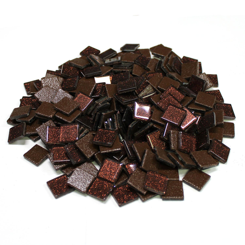 3/4 Brown Glitter Venetian Tiles - 2.2 Lb