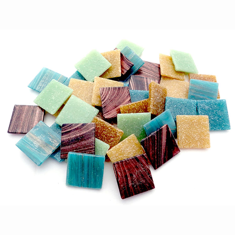 3/4 Zambia Venetian Glass Tile Mix - 2.5 Lb