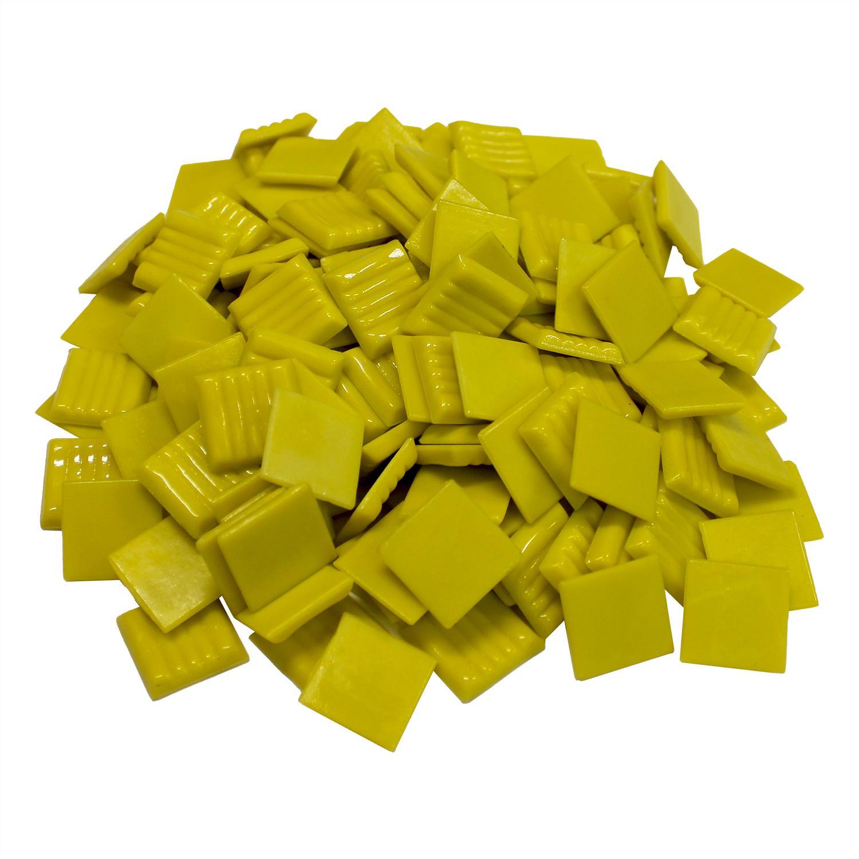 3/4 Canary Venetian Glass Tile - 1 Lb