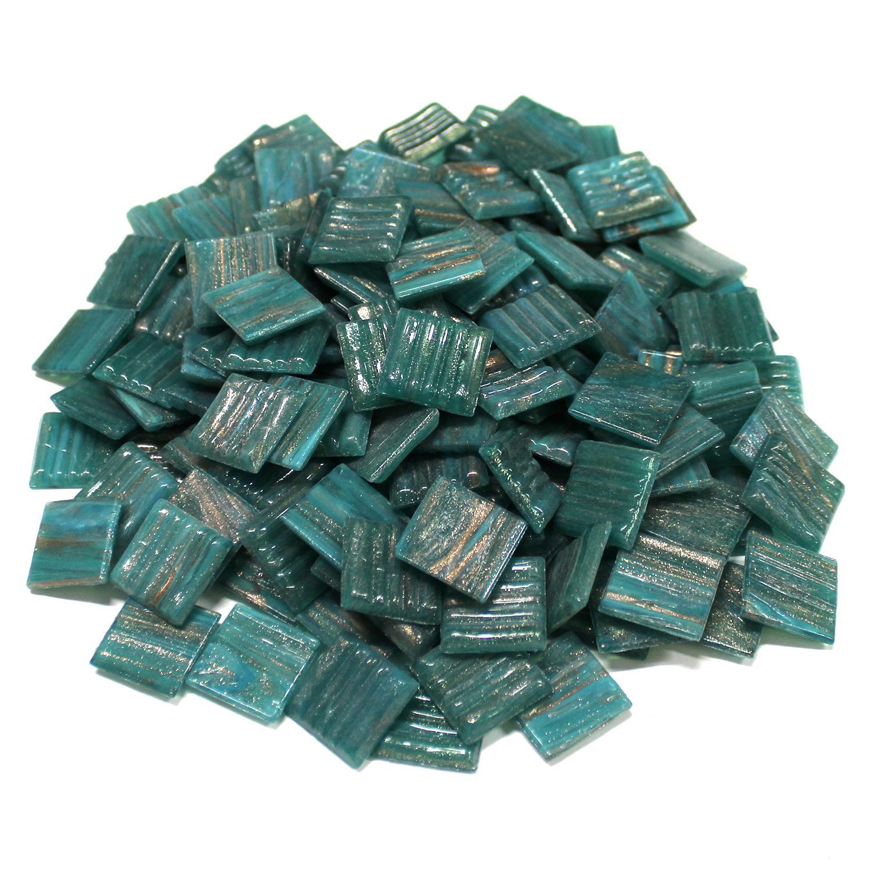 3/4 Meadow Gold Metallic Venetian Glass Tiles - 1 Lb